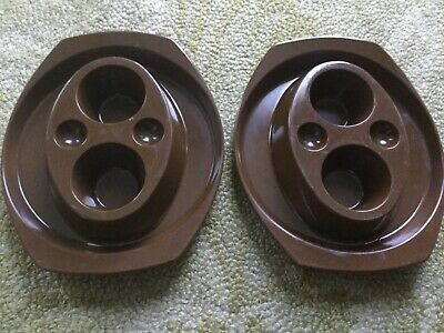 2 x Bessemer double egg cups in very good condition