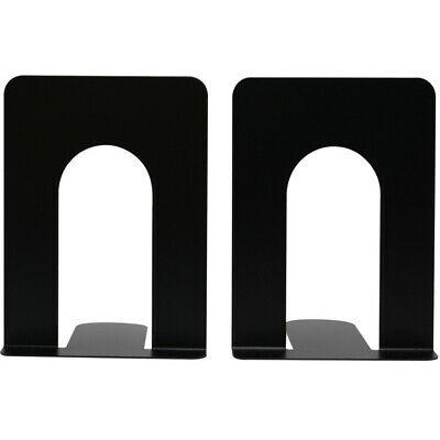 1 Pair Metal Bookends Nonskid Book Ends Documents Folders Magazines CDs Stoppers