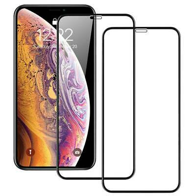 2pcs 9D Full Cover Tempered Glass Screen Protector For iPhone 11 Pro X XR XS Max