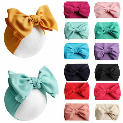 Soft Kids Girls Toddler Infant Headband Hair Band Bow Turban Knot Headwrap T0C7