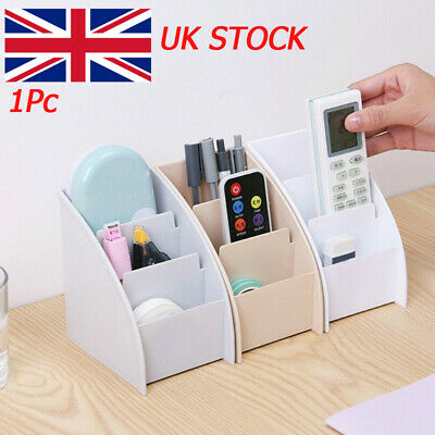 Trapezoid Desk Decor Remote Control Holder Storage Box Mobile Phone Shelf Racks