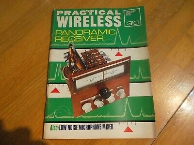 Practical Wireless Jan 1970 Panoramic Receiver Low Noise Microphone Mixer
