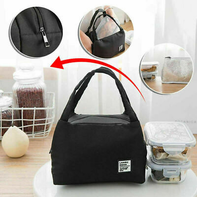 Lunch Bags Insulated Canvas Tote Bag Thermal Cooler Food Picnic Bag Hot Sale
