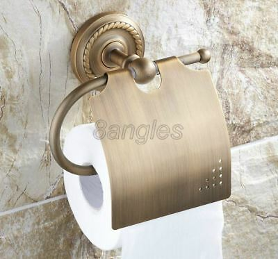 Antique Brass Wall Mounted Bathroom Toilet Paper Towel Roll Tissue Holder 8ba106