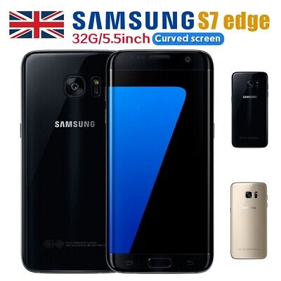 New Samsung Galaxy S7 Edge 32GB Android Unlocked Smartphone Sim Free Black Gold