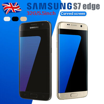 New Unlocked SAMSUNG Galaxy S7 Edge 32GB G935F Smartphone Sim Free Black Gold