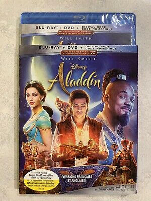 Aladdin 2019 Live Action Blu-Ray & DVD w Slipcover Canada Bilingual NO DC LOOK