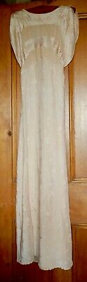 Exquisite True Vintage Blush Pink Silk 1930's Bias Cut Nightdress/ Wedding Dress