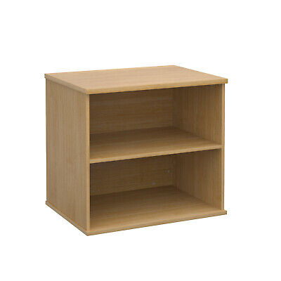 Deluxe desk high bookcase 600mm deep - oak