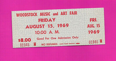 Authentic 1969 WOODSTOCK FESTIVAL Ticket MINT Stub intact Woodstock 50