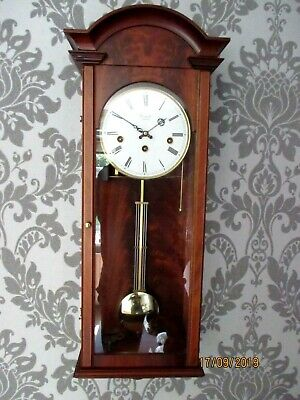Comitti of London 8 Day Westminster chime Walnut Wall Clock.