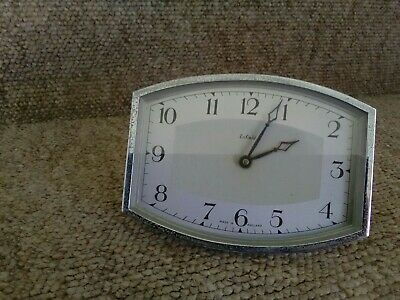 Vintage Enfield Hand Winding Shelf Clock. Working Order But No Outer Casing.
