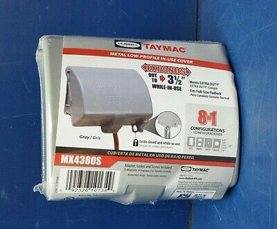 TAYMAC While In Use Weatherproof Cover, Vertical, MX4380S, Gray