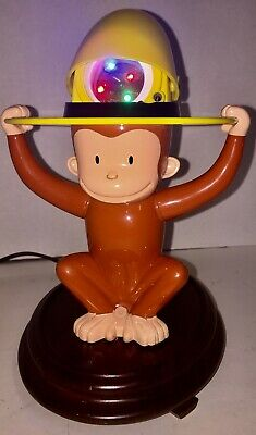 Repurposed Lamp Curious George Colorfull Night Light LED Lamp Collectible