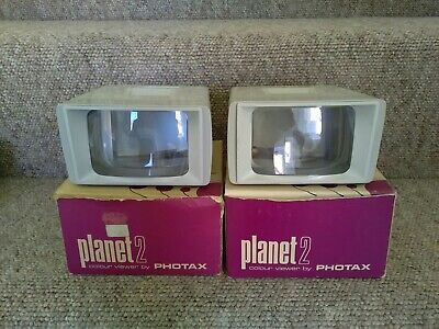 2 x Boxed Photax Planet 2 Colour Viewers. Pre-Owned.