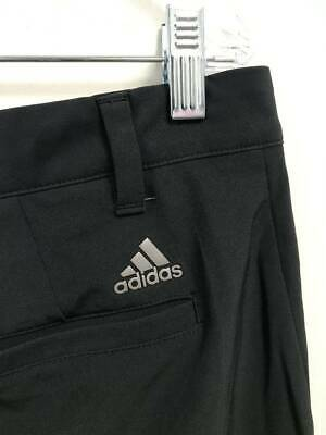 F42 Mens Adidas Climalite Stretch Flat Front Casual Golf Shorts Size 36 Black