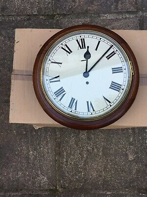 Antique Wall Clock . Turn Key . Brass Surround. Experts Please Judge. Very Old