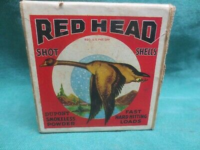 MT 2-Part Montgomery Ward Red Head 16 ga Shotgun Shot Shell Box