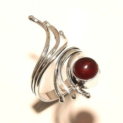 Amazing Ring Silver Plated Garnet Gemstone Fashion jewelry