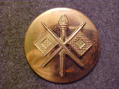 Ww2 Korea Domed Brass Us Army Signal Corps Collar Disk