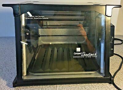 Ronco Compact Showtime Rotisserie & BBQ Oven Model 3000 Black