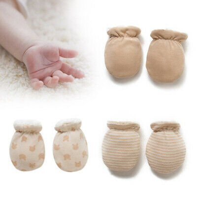 Newborn Baby Infant Soft Cotton Handguard Anti Scratch Mittens Gloves 1 Pair