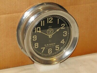 """Chelsea  Antique U.s.navy Ships Clock~Deck Clock #3~6"""" Dial~1905~114 Yrs Old"""