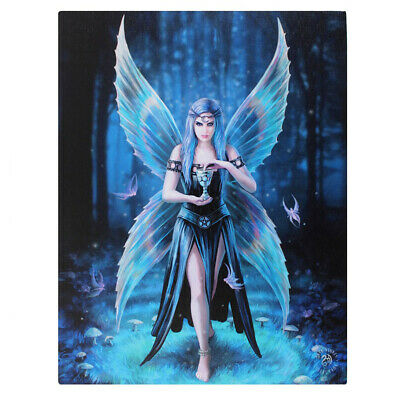 Enchantment Canvas Plaque By Anne Stokes - Goth Gothic Pagen Wiccan