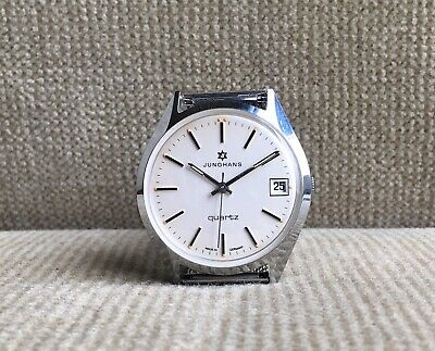 Junghans  quartz Herrenuhr - Cal.667.30 - 36 mm  ca. 1979 mint
