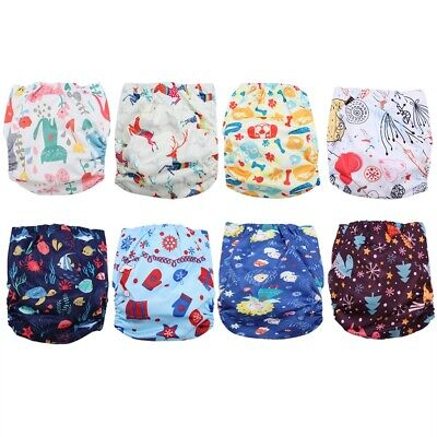 Adjustable Reusable Baby Kids Boy Girl Washable Cloth Diaper Nappies Inner Layer