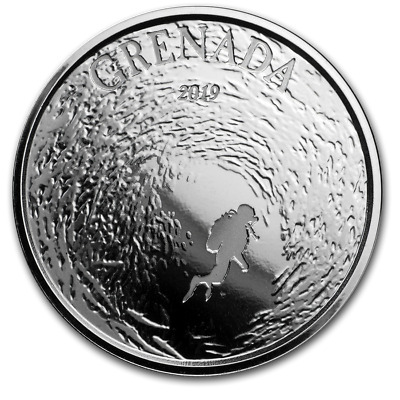 2019 Eastern Caribbean 8 Series Grenada Diving Paradise 1 oz .999 Silver BU Coin