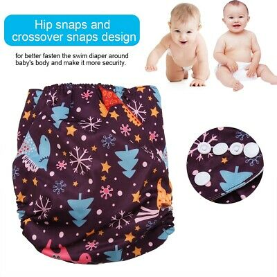Swim Hook-Loop Diaper Nappy Pants Adjuatable Reusable Infant Baby Toddler Girl