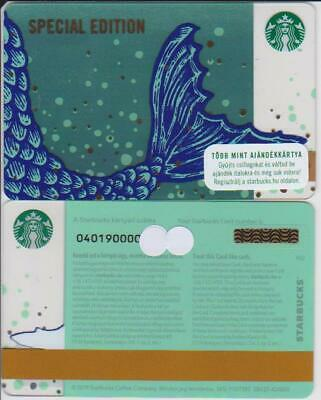 Hungary Starbucks card, No value,PIN intact - 2019 Special Edition