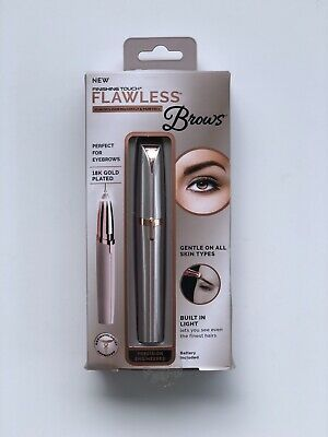 FINISHING TOUCH Flawless Brows Eyebrow Hair Remover~Blush/Rose Gold~with Light