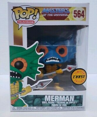 Funko POP! Television BLUE CHASE Merman #564 Masters of the Universe Pop Protect