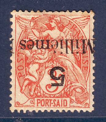 Colonies  PORT SAID N° 38 a neuf surcharge reversee