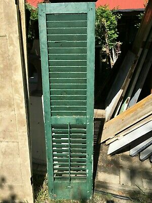 Vtg 1800's Old  Wooden Window Shutter Architectural Salvage 59.5in x 15in