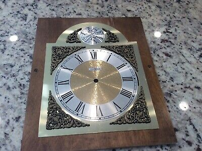 Howard Miller Grandfather Clock  Dial Face With Wood Panel