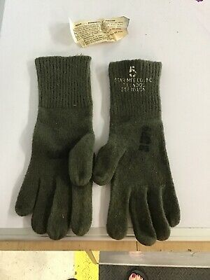 Vintage World War II WW2 US Army Trigger Finger Gloves Mittens Inserts Star Mfg.