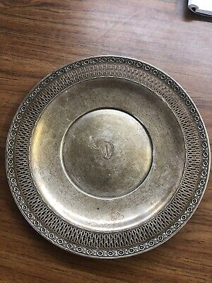 """JE Caldwell Sterling Silver Serving Plate L114 181.6 Grams 9"""""""