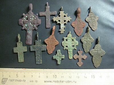 Collection of ancient crosses Mix finds   Metal detector finds 100%original