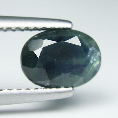 1.97Cts.Natural Blue Mix Green Sapphire 6.1x8.2x4.2mm Oval Loose Gemstone