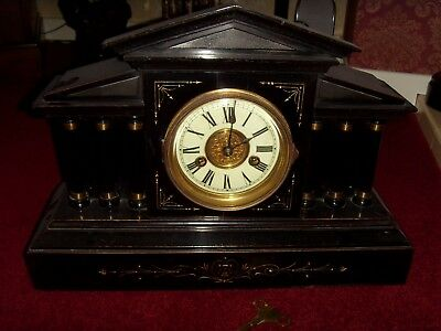 HAC 14 Days Strike Ebonised Wood Clock