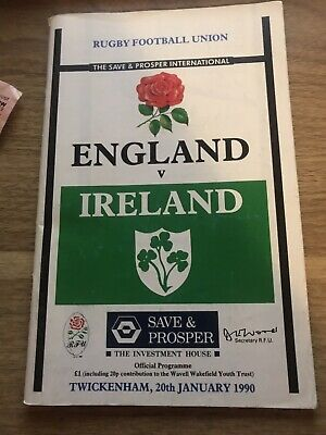 England V Ireland-Five Nations International Rugby Programme Good Condition