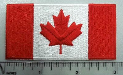 Canada flag patch-3in wide package 5pcs, high quality full embroidery