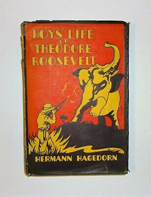 1935 The Boys Life of THEODORE ROOSEVELT by Hermann Hagedorn Illust Biography VG