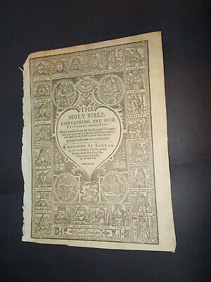 RARE-1633 KJV-SHE Bible-New Testament Title Page-Barker and Bill-Rare