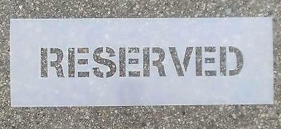 "3"" Reserved Parking Stencil"