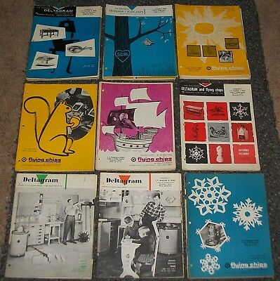 Vintage 1957-67 Rockwell Deltagram & Flying Chips 39 Diff. Issues Sweet Projects