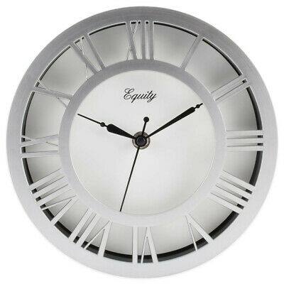 "Wall Clock, Equity 8"" Colored Plastic Case, Raised Dial 20862 FREE SHIPPING"